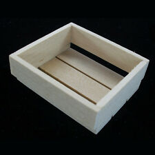 Miniature Wooden Crates in 1to12 1:12 Scale Dollhouse Vegetable Food Boxes Crate