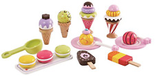 Lelin L40105 Wooden 25pieces Ice Cream Selection Pretend Play Set Multicoloured