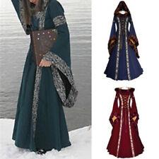 Fashion Women's Retro Victoria Dress Long Sleeve Maxi Oversize Halloween Dress^^