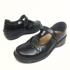 Naot Women's Black Mary Janes Comfort Slip On Shoes Sz 6 Eu37 Leather Cushion
