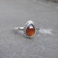 Garnet Solid 925 Sterling Silver Anxiety Ring Meditation Ring SR034