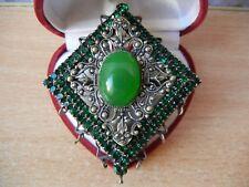 Century Green stone Chrysoprase Vintage Brooch Brooches Last
