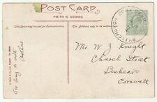 More details for 1909 whitchurch down camp skeleton military postmark on peter tavy church ppc