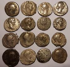 lot of 12 roman ancient silver denarius Marc Antony, Septimius Severus, Geta, ..