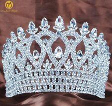 Handmade Pageant Tiara Crown Crystal Rhinestones Bridal Diadem Hair Accessories