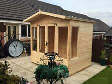 8x6 SUMMER HOUSE (CABIN) (WENDY HOUSE )(PLAY HOUSE)(WOODEN GARDEN SHED)(MODERN)