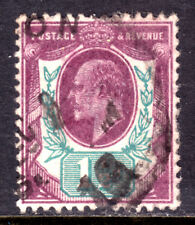 GREAT BRITAIN #129 1½p VIOLET & GREEN, 1902 KEVII, VF, CDS