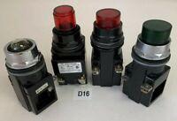 Furnas 52PA4E3,52PA4E2,Siemens 52PX6D2A,52PX4GN 4 Total Pilot Lights*Used*
