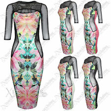 Unbranded Knee Length 3/4 Sleeve Floral Dresses for Women