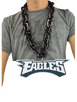 New NFL Philadelphia Eagles BLACK Fan Chain Necklace Foam Magnet - 2 in 1