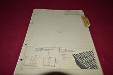 John Deere 260 Flail Mower Dealer's Parts Book Manual DCPA3