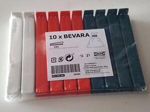 NEW COLOUR IKEA Bevara 10 Large Food Storage Clips Freezer Fridge Bag Sealing