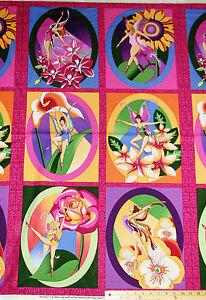 "Garden Fairy Flare Avlyn Fabrics Cotton Fabric Panel   23"" x 42""   #2722-600"