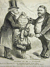 Park and Schenck Deal BRIBERY USURY Immoral Loan 1878 Engraving Print Matted