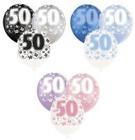 "GLITZ RANGE (3 Colours) 6 x 12"" Pearlised Latex Balloons (Birthday Party)"