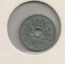 pièce de 10 centimes 1943  Zinc TTB+  Petit module