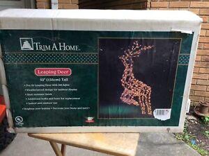 Christmas Reindeer Light Display Leaping Deer Outdoor Yard Art Trim A Tree Inbox