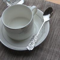 Tableware Dinnerware Coffee Tea Spoon Stainless Steel Ice Cream Scoops Rose