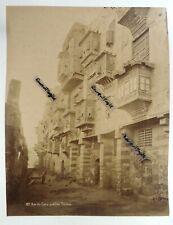 2 PHOTOS EGYPTE Antonio BEATO porte de temple et rue du CAIRE quartier Touloun