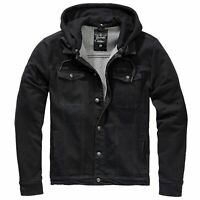 Brandit Jacke Cradock Denim Sweat Jacket Jeansjacke Kapuze S-5XL
