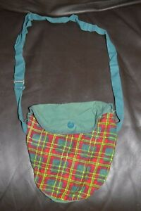 VINTAGE 1960s GIRL SCOUT Plaid Cloth Carry Case Lightweight Crossbody Bag Only