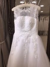 Embroidery Regular Organza Wedding Dresses