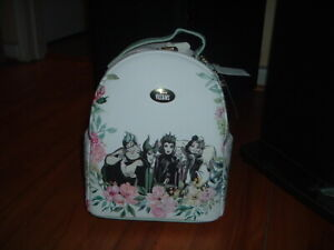 DISNEY VILLIANS MINI BACKPACK~ WITH TAGS~BRAND NEW~ FLORAL~ EXCLUSIVE~