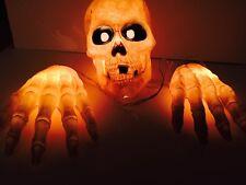 Halloween Light Up Skull And Hands Indoor And Outdoor Light Set
