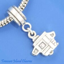POPUP CAMPER TRAILER RV .925 Solid Sterling Silver EUROPEAN Dangle Bead Charm