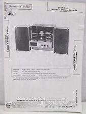 Sams Photofact Folder Parts Manual Symphonic T-4PN58A T-4PN59A Stereo Record