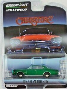 1:64 GreenLight 1977 Plymouth Fury Hollywood 30 Christine Green Machine
