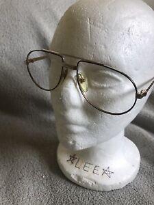 DUNHILL Pilot 6147 57[]16 135 Gold Eyeglasses Sunglasses  Rare Vintage Austria