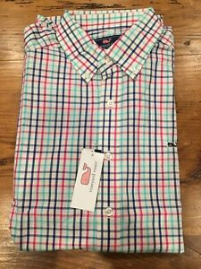 Men's Vineyard Vines Long Sleeve Button Up Collared Shirt- Size Large