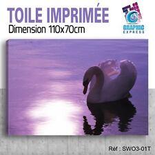110x70cm -TOILE IMPRIMÉE TABLEAU  POSTER DECO - SWAN - SIGNE - OISEAUX - SW3-01T