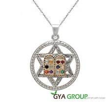 A stunning Kabbalah Magen David pendant with Choshen stones & 9 K gold Tora book