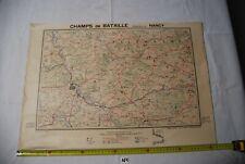 AF1 Carte - Champs de Bataille - Ed Perin - Nancy- Planche N°13 WW1 WW2