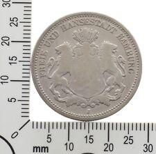 Hamburg: 2 Mark 1876 J - Original Silbermünze