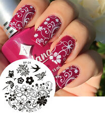BORN PRETTY Nail Art Stamping Plate Charming Spring Image Stamp Template #24