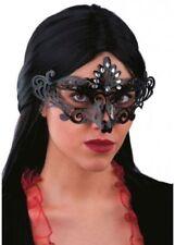 Maschere neri in plastica per carnevale e teatro, tema horror