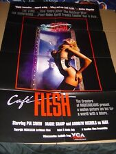 Cafe Flesh 1982 Adult Movie Poster ~ Pia Snow, Becky Savage VG 27 x 40