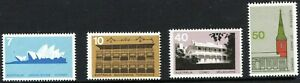 1973 Australia Architecture Set Of 4 Mint Never Hinged, Clean & Fresh