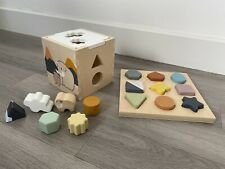 Kids Concept Wooden Puzzle And Shape Sorter
