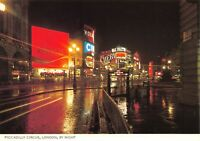 Vintage London Postcard, Piccadilly Circus by Night HZ3
