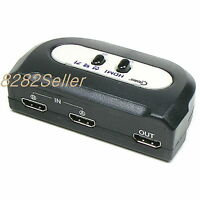2 Port HDMI V 1.3 Manual SELECTOR Sharing Switch NEW Switcher BOX PC Camera 2:1