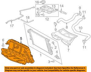 Chevrolet GM OEM 14-18 Corvette 6.2L-V8 Radiator-Air Baffle 23251254
