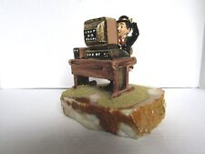 Charlie Chaplin at the Computer 24 Kt Gold 1987 Signed by Ron Lee