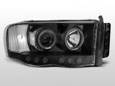 LPDO04 Fari Fanali Anteriori Dodge Ram 02-06 a led Angel Eyes nero TuningShop-TT