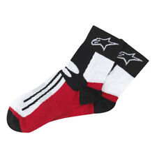 Alpinestars Short Socks Racing Road Motorcycle Motorbike Black / Red / White