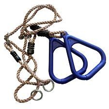anneaux plastique de corde gymnastique Tour jeux balançoire pour nouveau bleu