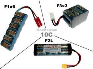 Hochstrom RC Akku XCell SCR 7.2V4500 mAh /mehrere Optionen...